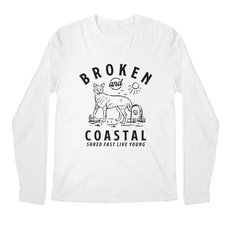 The Black Fox Men's Regular Longsleeve T-Shirt by Broken & Coastal