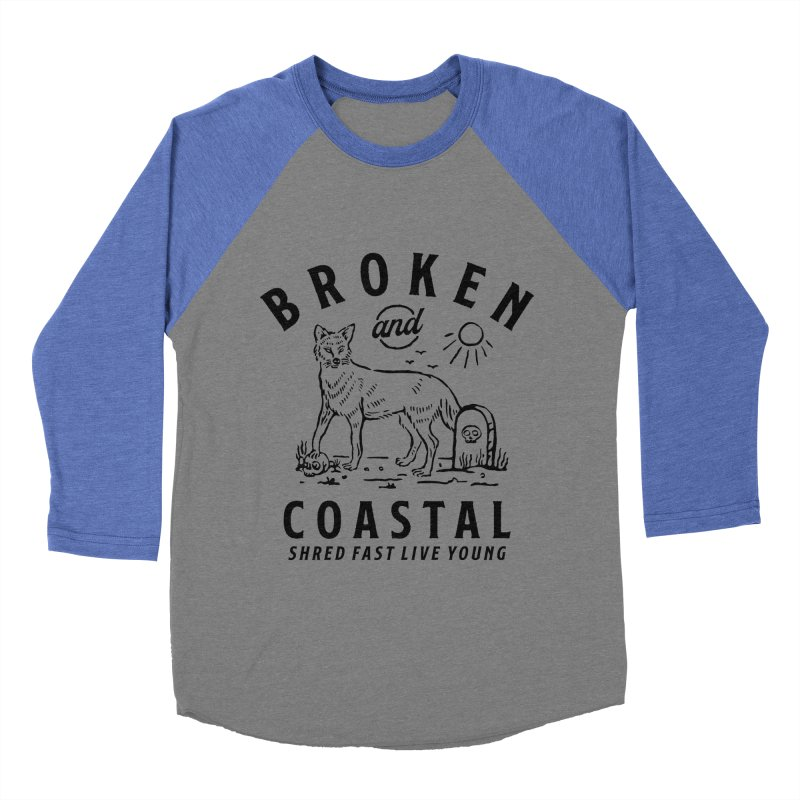 The Black Fox Men's Baseball Triblend Longsleeve T-Shirt by Broken & Coastal