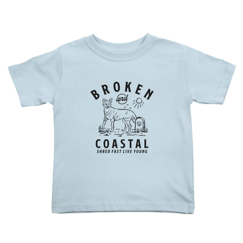 The Black Fox Kids Toddler T-Shirt by Broken & Coastal