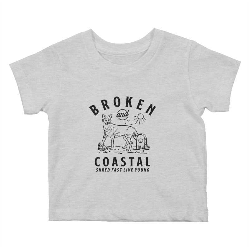 The Black Fox Kids Baby T-Shirt by Broken & Coastal