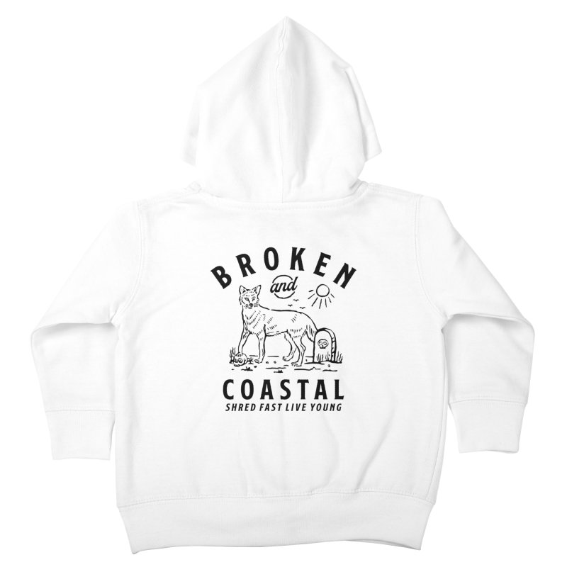 The Black Fox Kids Toddler Zip-Up Hoody by Broken & Coastal