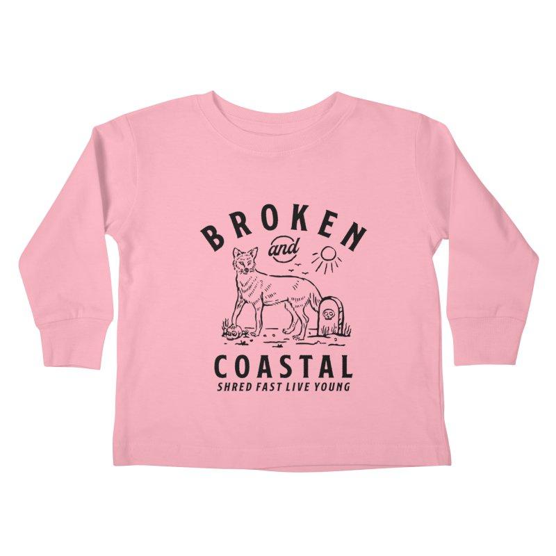 The Black Fox Kids Toddler Longsleeve T-Shirt by Broken & Coastal