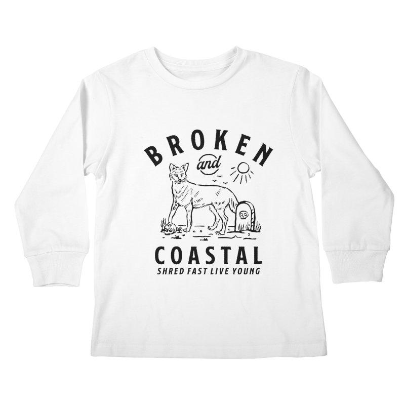 The Black Fox Kids Longsleeve T-Shirt by Broken & Coastal