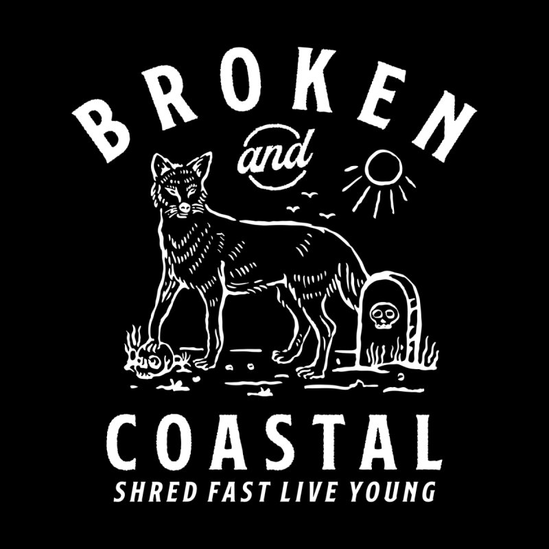 The White Fox Men's T-Shirt by Broken & Coastal