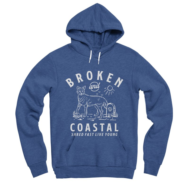 The White Fox Men's Pullover Hoody by Broken & Coastal