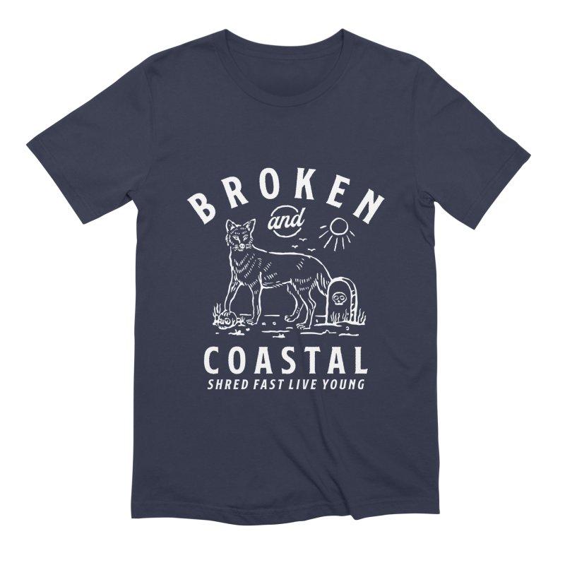The White Fox Men's Extra Soft T-Shirt by Broken & Coastal
