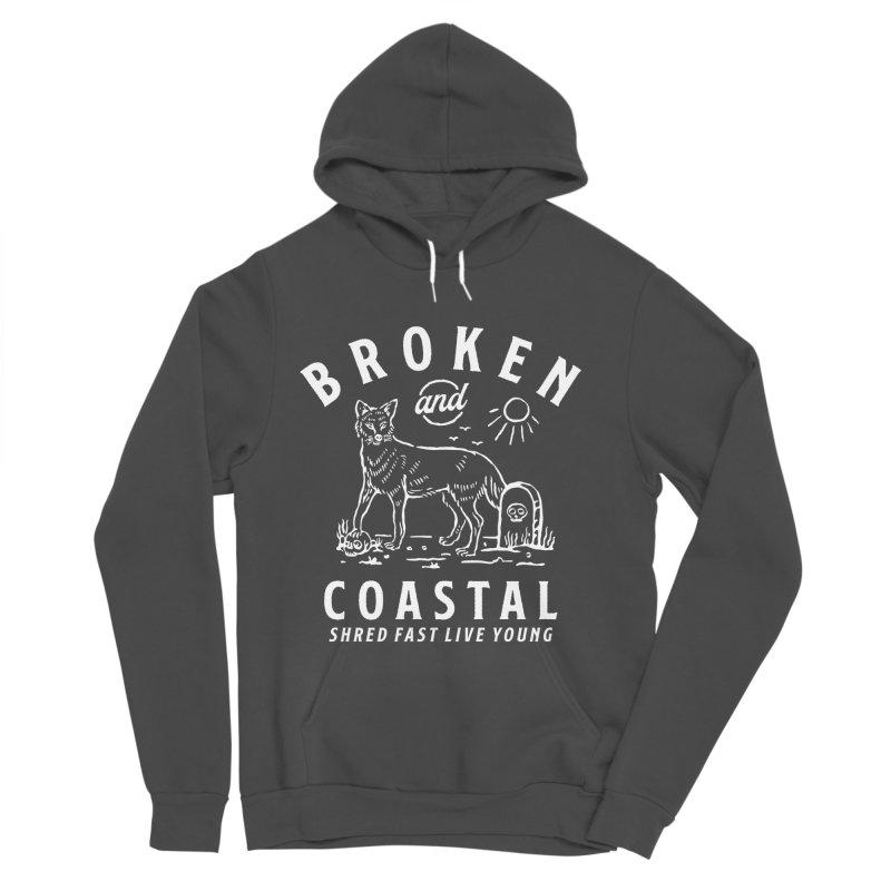 The White Fox Men's Sponge Fleece Pullover Hoody by Broken & Coastal
