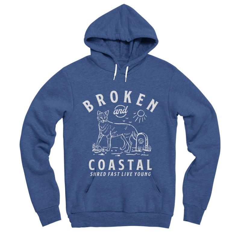 The White Fox Women's Sponge Fleece Pullover Hoody by Broken & Coastal
