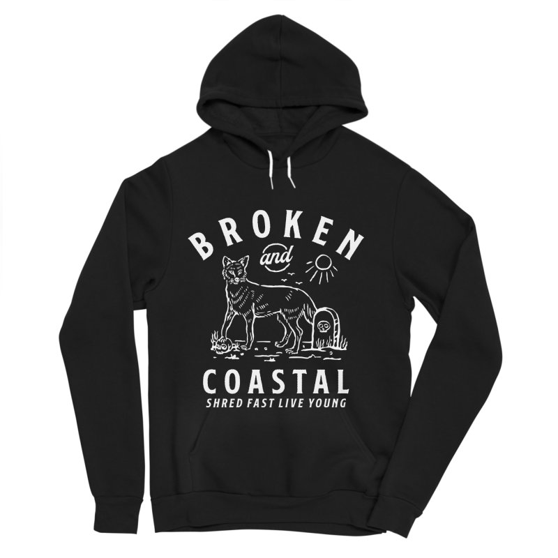 The White Fox Women's Sponge Fleece Pullover Hoody by Broken & Coastal