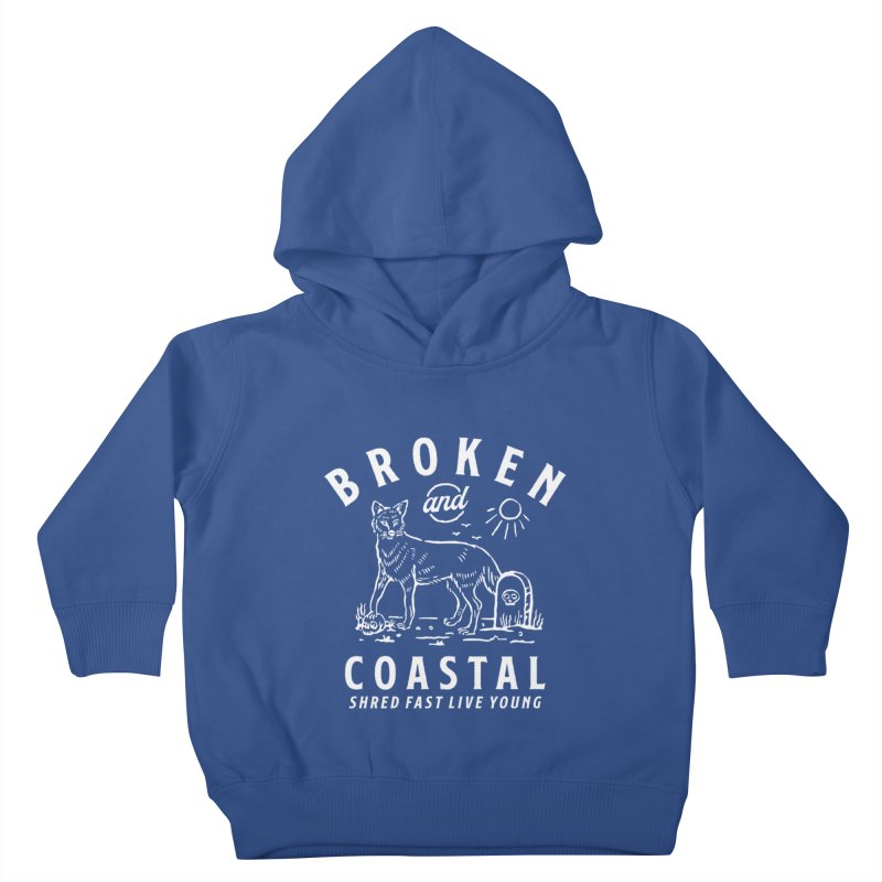 The White Fox Kids Toddler Pullover Hoody by Broken & Coastal
