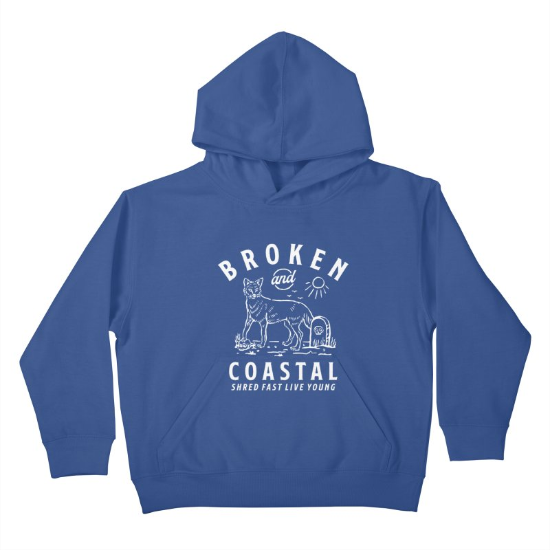 The White Fox Kids Pullover Hoody by Broken & Coastal