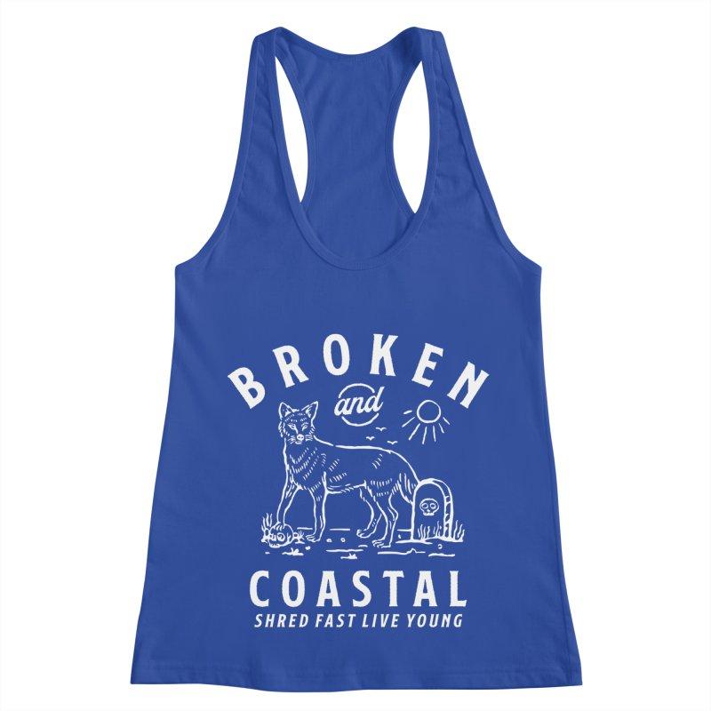 The White Fox Women's Racerback Tank by Broken & Coastal