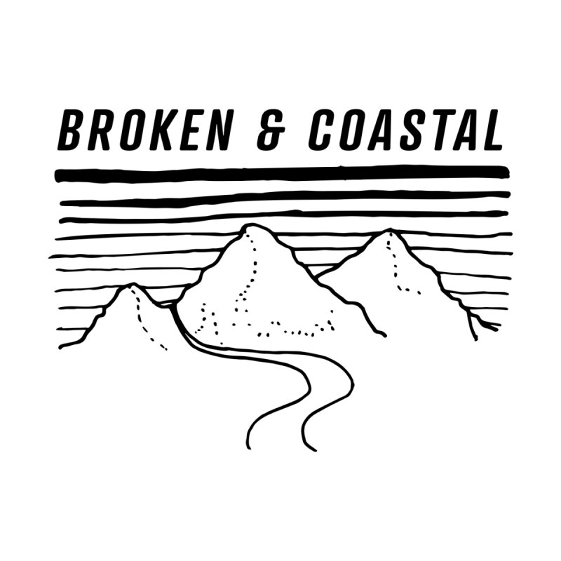 The Black Mountains Men's T-Shirt by Broken & Coastal