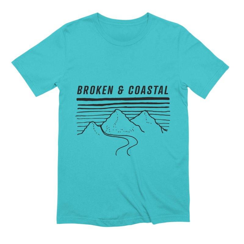 The Black Mountains Men's T-Shirt by Broken & Coastal
