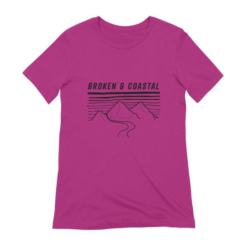 The Black Mountains Women's Extra Soft T-Shirt by Broken & Coastal