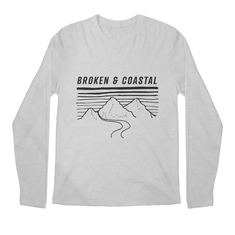 The Black Mountains Men's Regular Longsleeve T-Shirt by Broken & Coastal