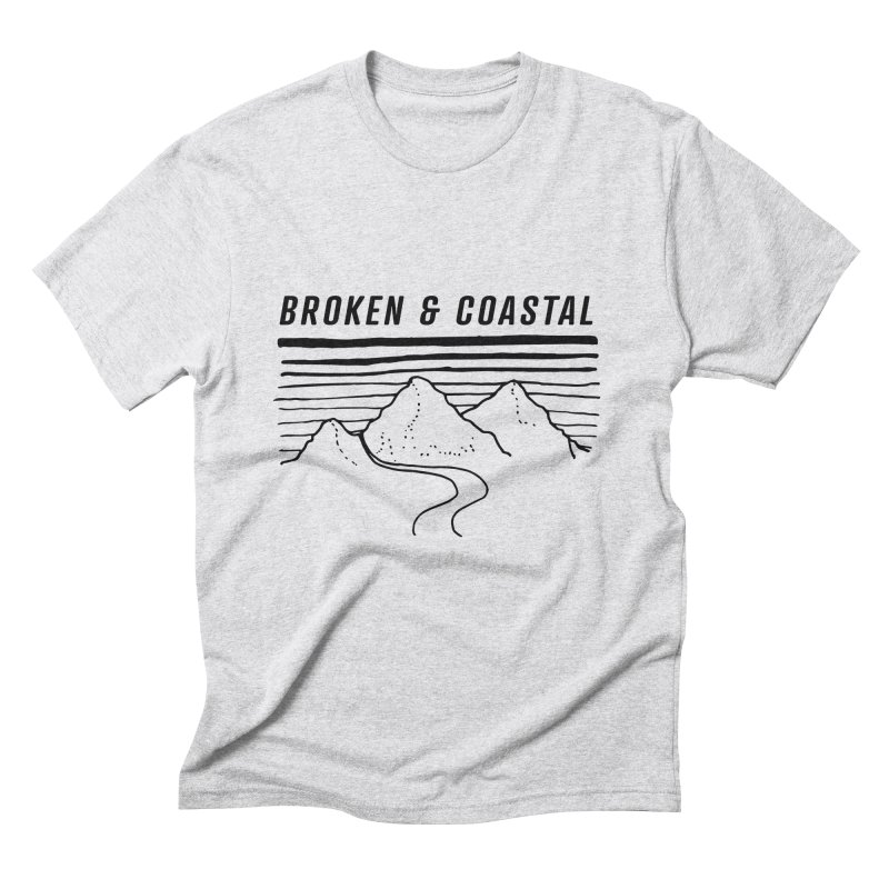 The Black Mountains Men's Triblend T-Shirt by Broken & Coastal