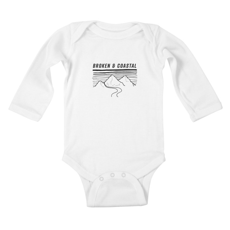 The Black Mountains Kids Baby Longsleeve Bodysuit by Broken & Coastal