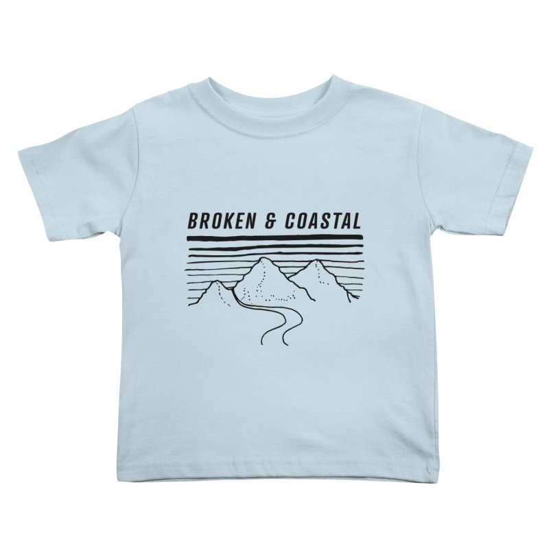 The Black Mountains Kids Toddler T-Shirt by Broken & Coastal