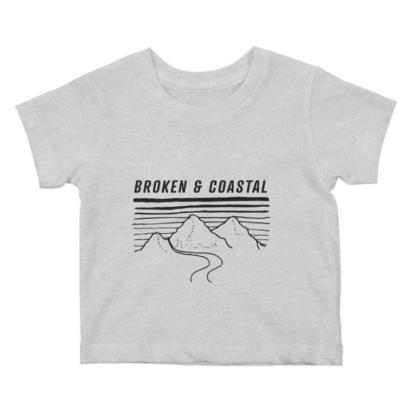 The Black Mountains Kids Baby T-Shirt by Broken & Coastal