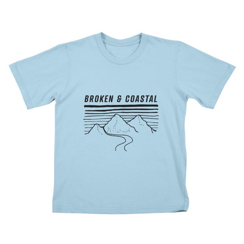 The Black Mountains Kids T-Shirt by Broken & Coastal