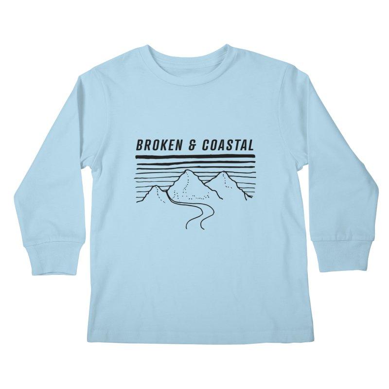 The Black Mountains Kids Longsleeve T-Shirt by Broken & Coastal