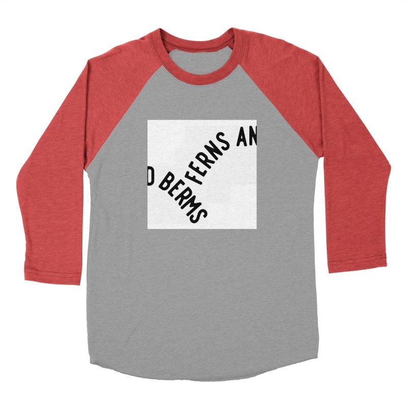 Ferns and Berms Block Men's Baseball Triblend Longsleeve T-Shirt by Broken & Coastal
