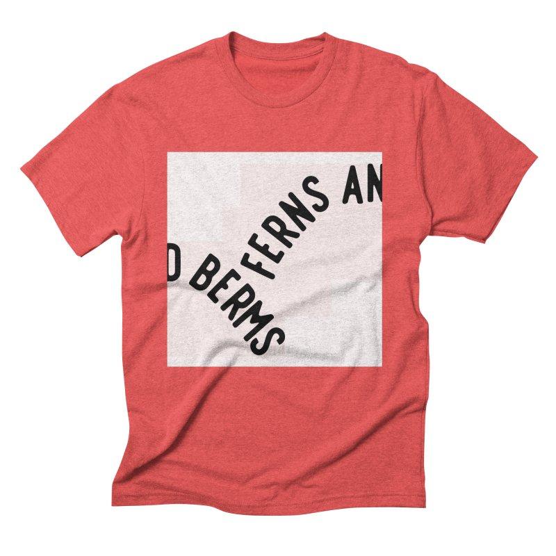 Ferns and Berms Block Men's Triblend T-Shirt by Broken & Coastal