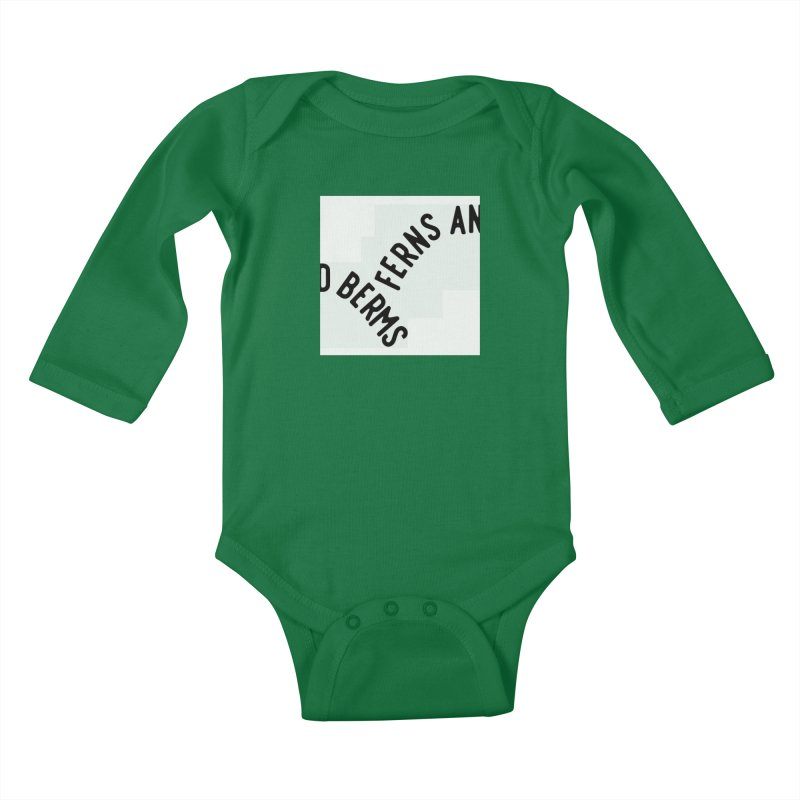 Ferns and Berms Block Kids Baby Longsleeve Bodysuit by Broken & Coastal