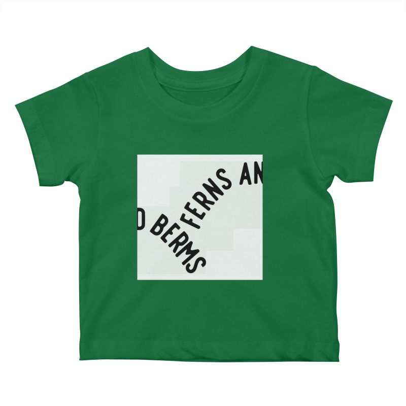 Ferns and Berms Block Kids Baby T-Shirt by Broken & Coastal