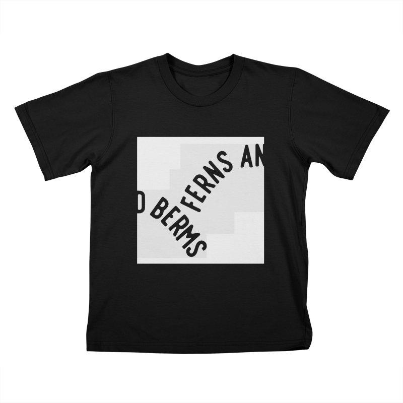 Ferns and Berms Block Kids T-Shirt by Broken & Coastal