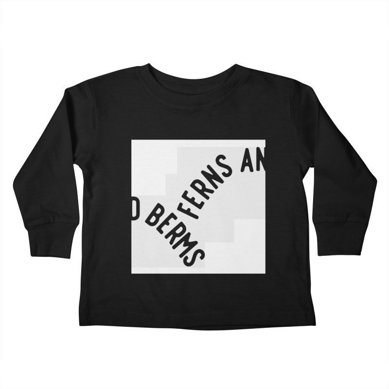 Ferns and Berms Block Kids Toddler Longsleeve T-Shirt by Broken & Coastal