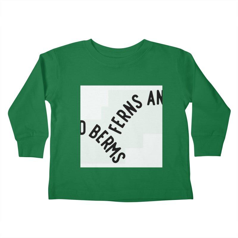 Ferns and Berms Block Kids Toddler Longsleeve T-Shirt by Broken & Coastal