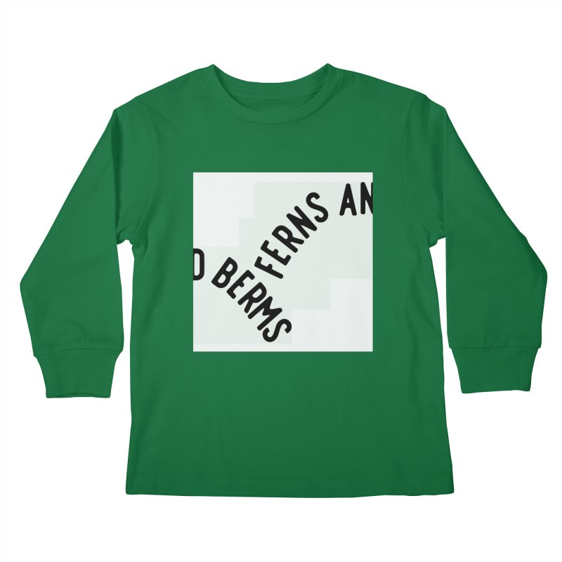 Ferns and Berms Block Kids Longsleeve T-Shirt by Broken & Coastal