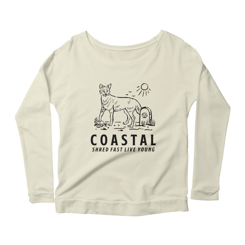 Coastal Fox Women's Scoop Neck Longsleeve T-Shirt by Broken & Coastal