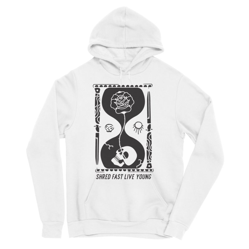 Black Hourglass Men's Pullover Hoody by Broken & Coastal