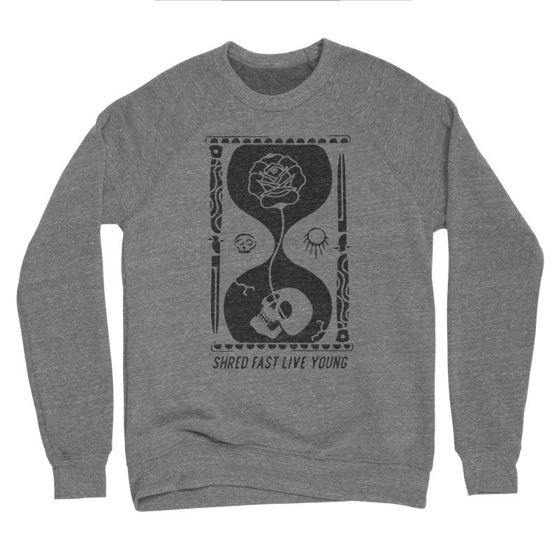 Black Hourglass Men's Sweatshirt by Broken & Coastal