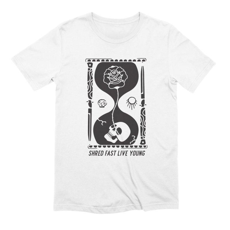Black Hourglass Men's T-Shirt by Broken & Coastal
