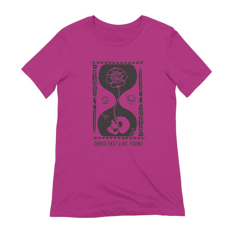 Black Hourglass Women's Extra Soft T-Shirt by Broken & Coastal