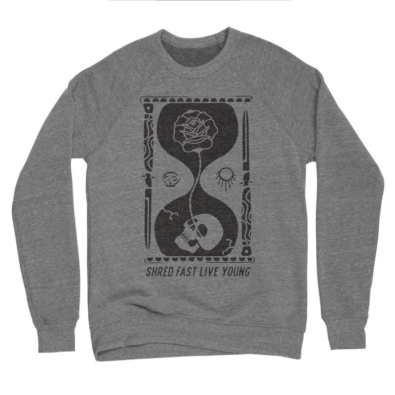 Black Hourglass Men's Sponge Fleece Sweatshirt by Broken & Coastal