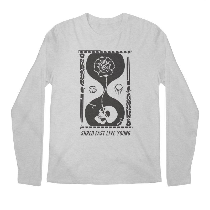 Black Hourglass Men's Longsleeve T-Shirt by Broken & Coastal