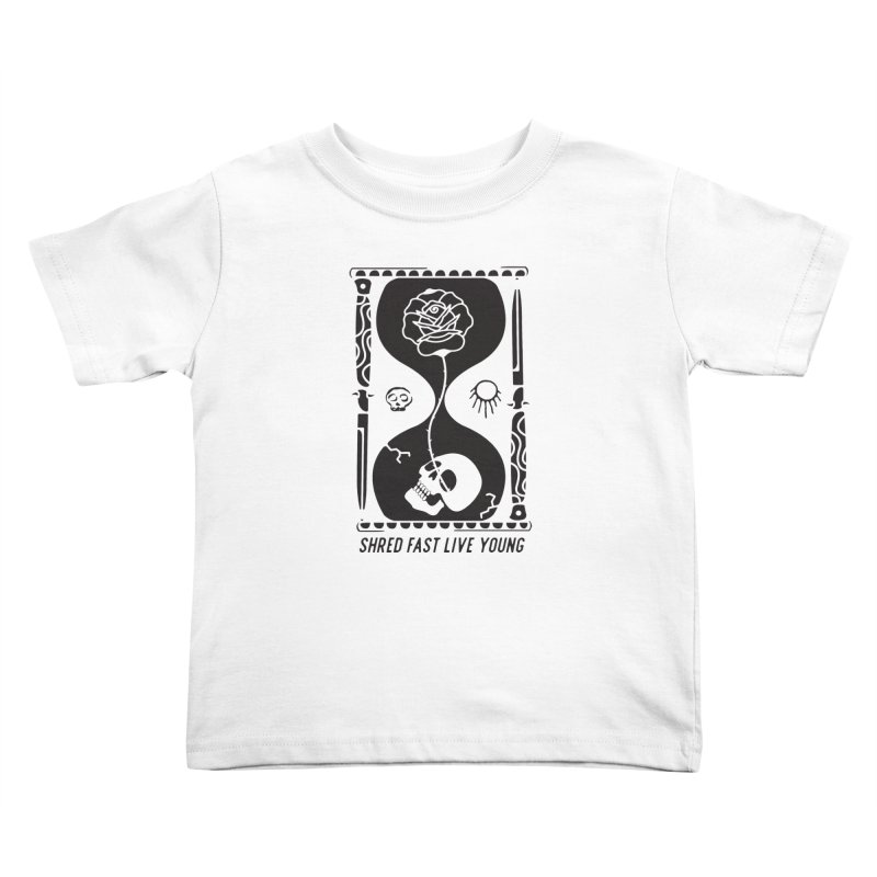 Black Hourglass Kids Toddler T-Shirt by Broken & Coastal
