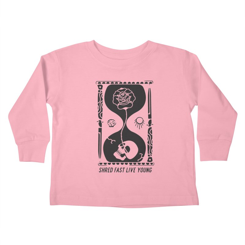 Black Hourglass Kids Toddler Longsleeve T-Shirt by Broken & Coastal