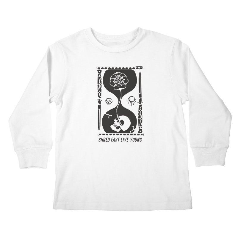 Black Hourglass Kids Longsleeve T-Shirt by Broken & Coastal