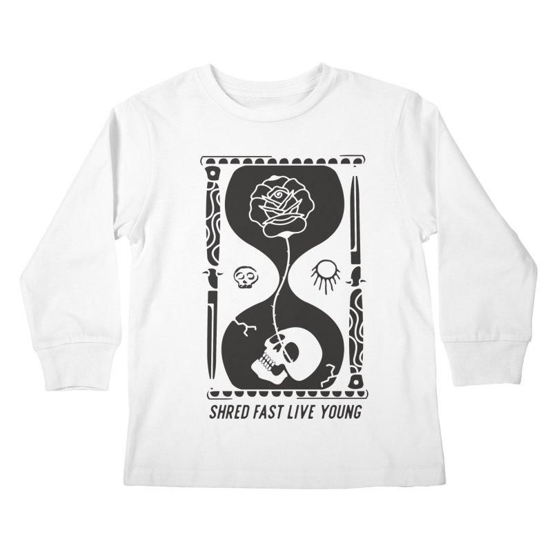 Black Hourglass Kids Longsleeve T-Shirt by Broken & Coastal