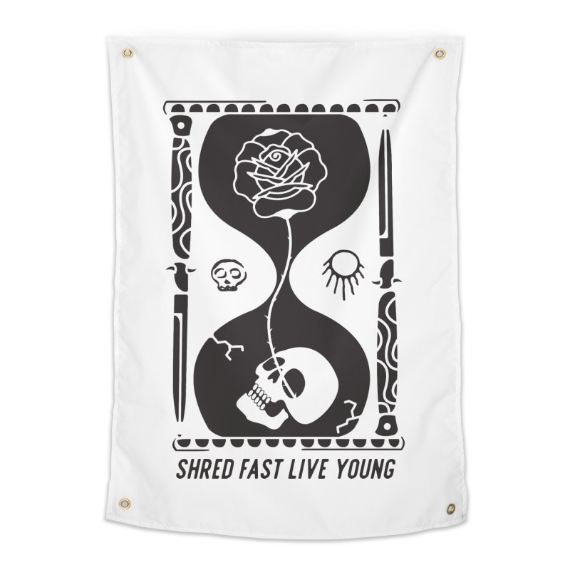 Black Hourglass Home Tapestry by Broken & Coastal