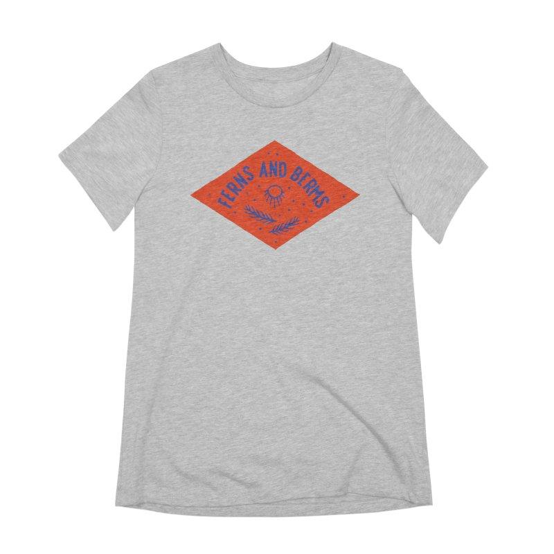 Ferns and Berms Diamond Women's Extra Soft T-Shirt by Broken & Coastal