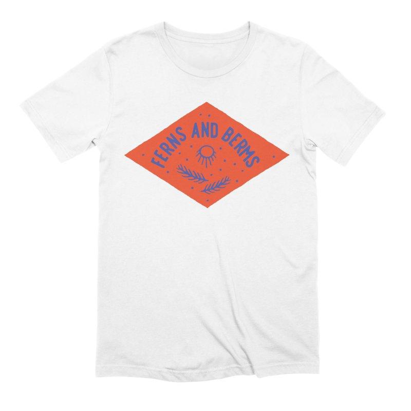 Ferns and Berms Diamond Men's Extra Soft T-Shirt by Broken & Coastal