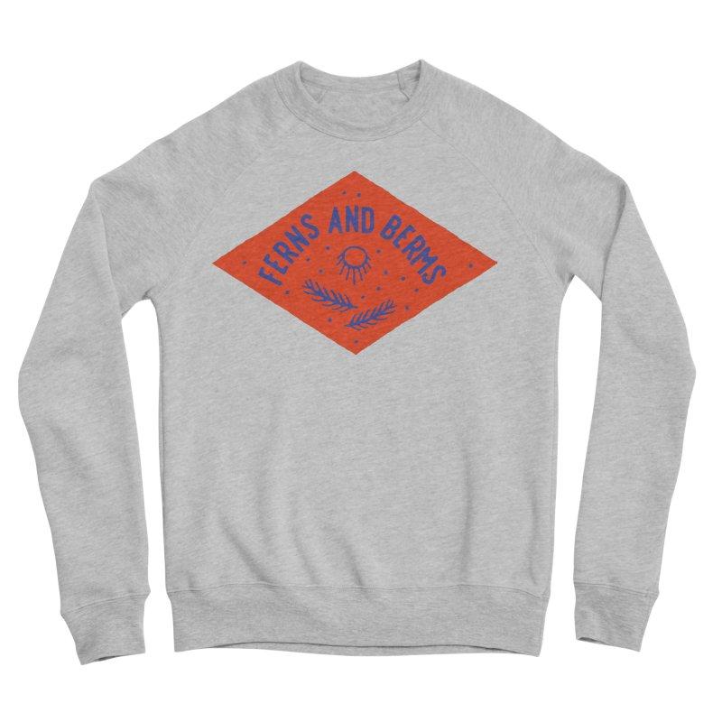 Ferns and Berms Diamond Men's Sponge Fleece Sweatshirt by Broken & Coastal