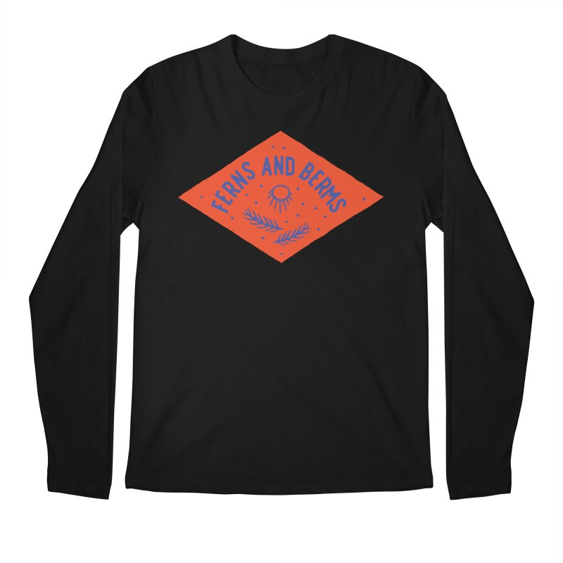 Ferns and Berms Diamond Men's Longsleeve T-Shirt by Broken & Coastal